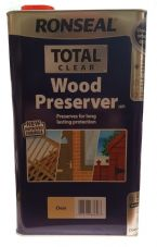 Ronseal Total Wood Preserver Clear 5 litre Next Day Delivery